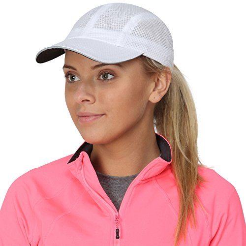 TrailHeads Women's Race Day Running Cap-Performance Hat - White (Company Sandwich Bill Cap)