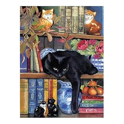 Sunsout 59367 Gatto Nella Libreria Puzzle 1000 Pezzi