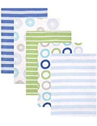 Luvable Friends Flannel Receiving Blankets, Blue...