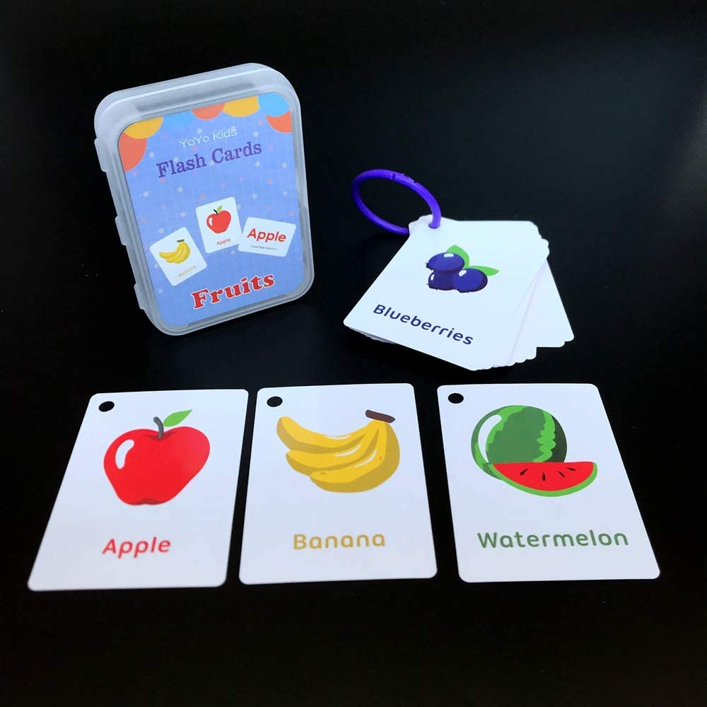 Alphabet ,English Vocabulary Cards YoYo Kids Educational Learning Picture /& Word Card Flashcards English Word Learning Card /& Pocket Size Flash Card for Children and Preschool