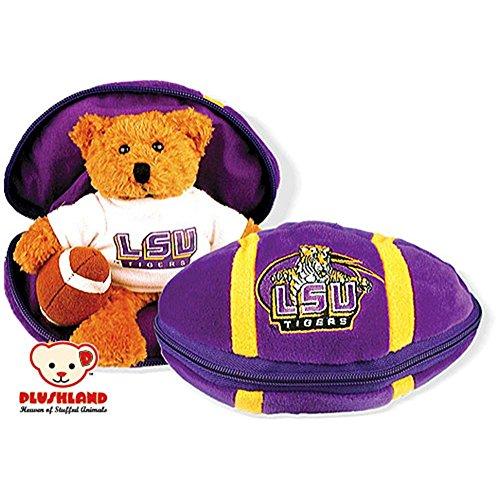 Plush Lsu (Plushland LSU Tigers Stuffed Bear in a Ball - Football)