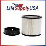 10 Pack Replacement Filter for Shop Vac Shop-vac ShopVac 90304 Cartridge Filter by LifeSupplyUSA
