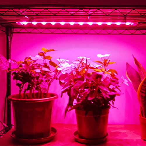 Grow Lights for Plants, 45W Including Power Supply, 4 pcs 9.6W Extendable 16 Inches LED Grow Light Strip for Greenhouse, Plant Grow Shelf; Easy Installation-[4-Strip-Kit]