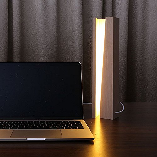 GUORZOM Simple Solid Wood Table Lamp Bedroom Atmosphere Decoration Creative Living Room Learning To Protect The Eye Desk Lamp, A by GUORZOM (Image #4)