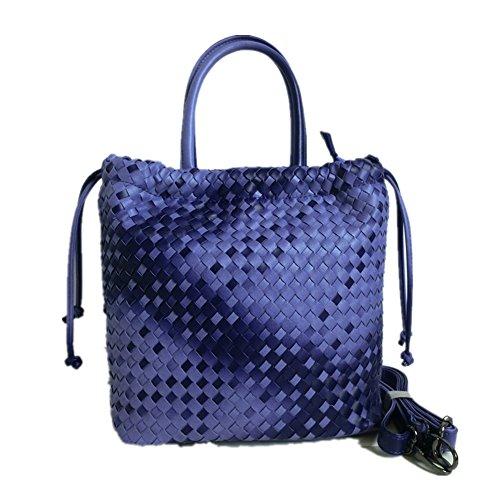 Fujia 2016 Leather Bucket Style Tote Women Shoulder Bags Purple