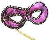 Purple Opera Goth Venetian Mask Mardi Masquerade Halloween Prom Costume Rave