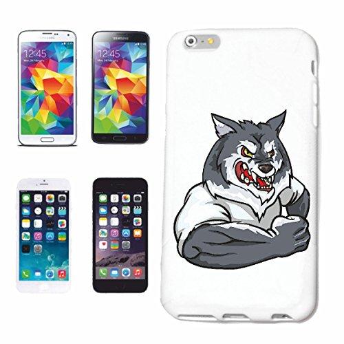 """cas de téléphone iPhone 7S """"WOLF EN MUSCLE SHIRT BODYBUILDING Musculation GYM GYM muskelaufbau SUPPLEMENTS WEIGHTLIFTING BODYBUILDER"""" Hard Case Cover Téléphone Covers Smart Cover pour Apple iPhone en"""