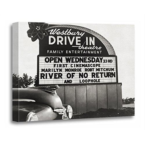 - TORASS Canvas Wall Art Print Movies Drive in Theater Film Hollywood 1950S Vintage Artwork for Home Decor 12