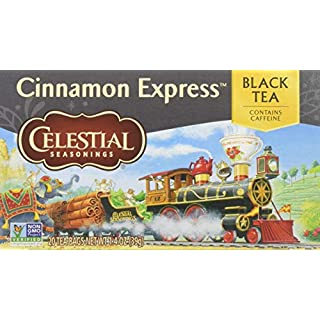 Celestial Seasonings Celestial Seasonings Cinnamon Express Black Tea, 20Count Box (Pack of 6) , 6 count (Pack of 1)