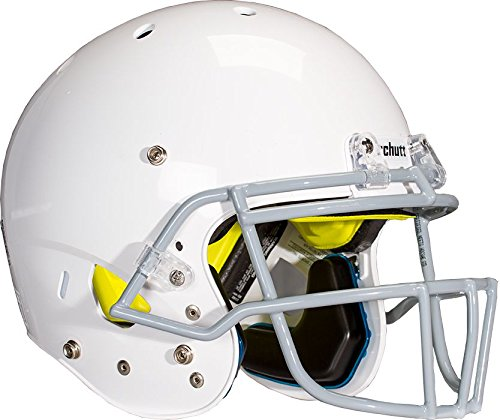 Schutt Sports Youth AiR Standard V Football Helmet with Grey ROPO-SW-YF Faceguard, White, Small -