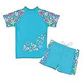 TFJH Girls Swimsuit Blue 8-9Years UPF 50+ UV