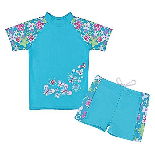 TFJH Girls Swimsuit Blue 3-4 Years UPF 50+ UV