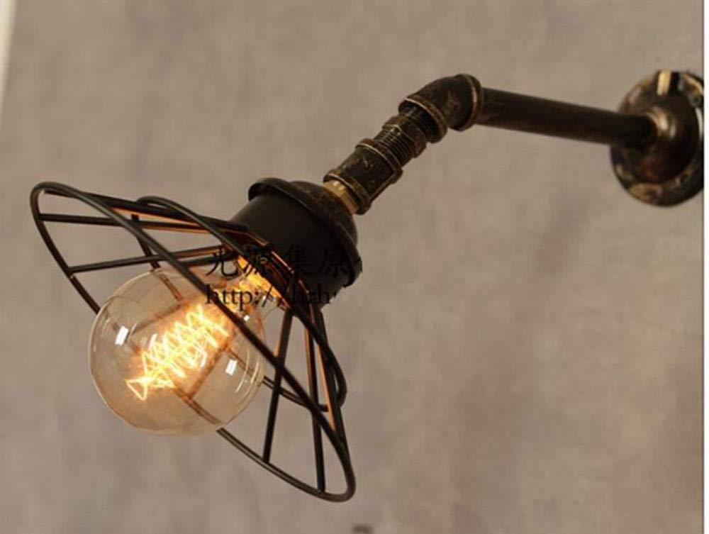 Kronleuchter Deckenleuchte Led-Lichtretro Wandleuchte-Einzelne Haupteisen-Rohr-Wandlampe-Industrielle Art-Eisen-Maschen-Dekorative Beleuchtung