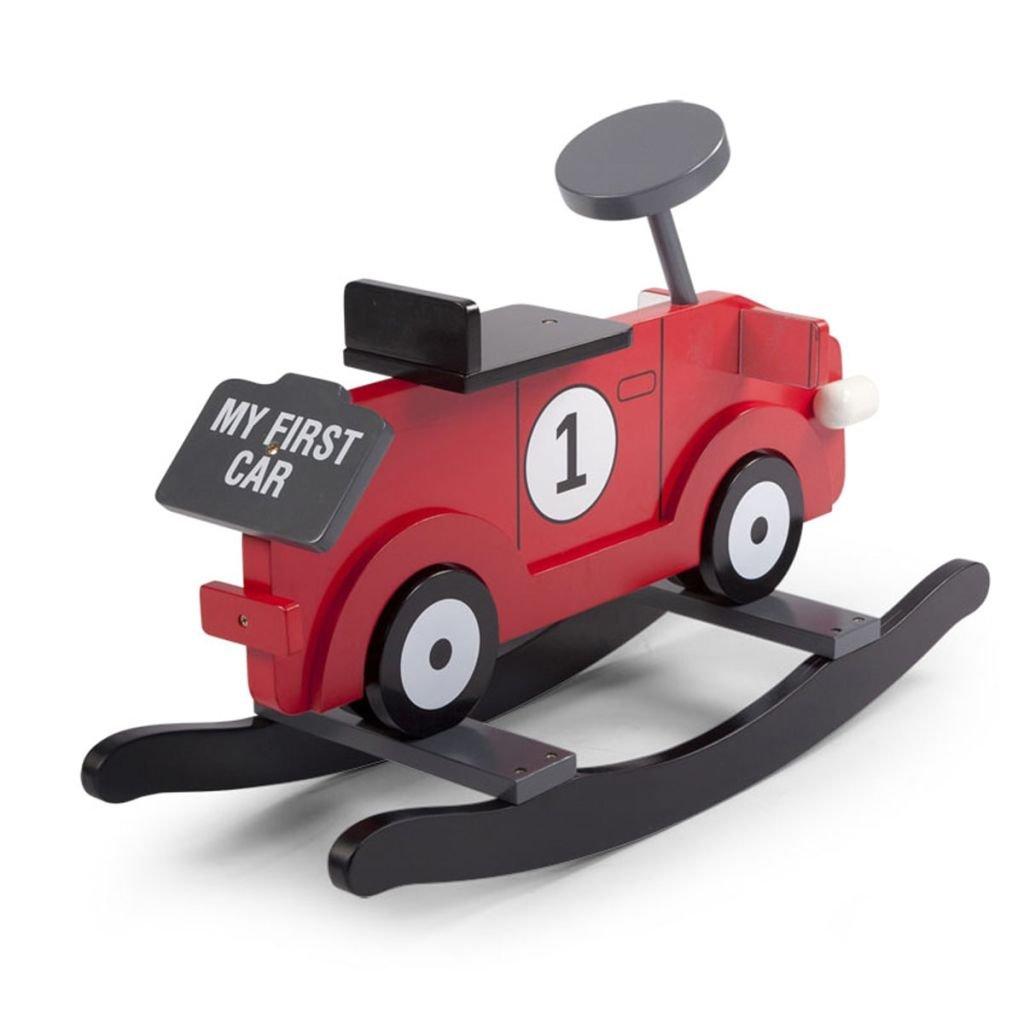 CHILDWOOD Voiture à bascule pour enfant My First Car Gris et noir CWRFCG