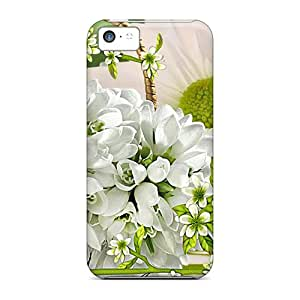 Waterdrop Snap-on Snowdrops Chamomile Cases For Iphone 5c