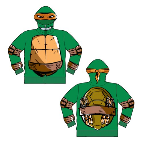 Teenage Mutant Ninja Turtles Men's Costume Hoodie, Kelly