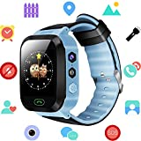 Kids Smartwatch - GPS/LBS Position Tracker Child SOS Help Wrist Watches Digital Camera Mobile Cell Phone Watch Best Gift Children for Girls Boys (GM9-Blue)