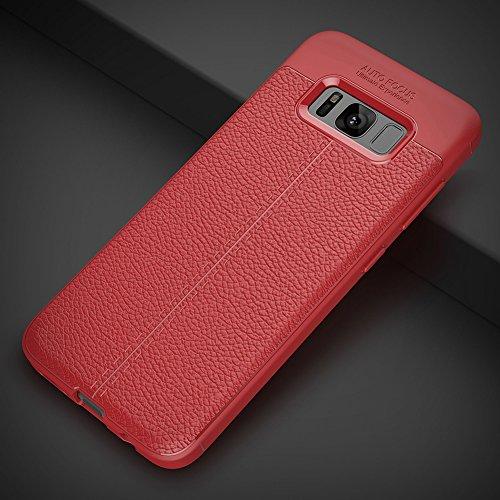 """Samsung Galaxy S8 (5.8"""") Hülle, MSVII® Anti-Shock Weich TPU Silikon Hülle Schutzhülle Case Und Displayschutzfolie für Samsung Galaxy S8 (5.8"""") - Rot / RED JY90030"""