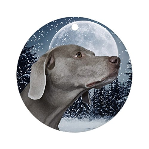CafePress Weimaraner Ornament Round Holiday Christmas Ornament