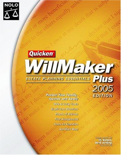 Quicken Willmaker Estate Planning Essentials Plus with CDROM (Quicken Willmaker Plus)