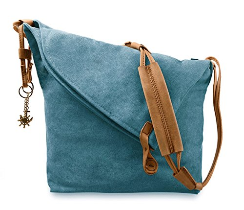 - Fansela(TM) Messenger Bag, Crossbody Satchel Bag Retro Canvas Hobo Bag Oversized