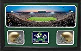 Encore Select 657-34 NCAA Notre Dame Fighting Irish Custom Framed Sports Memorabilia with Two Mini Helmets Photograph and Name Plate