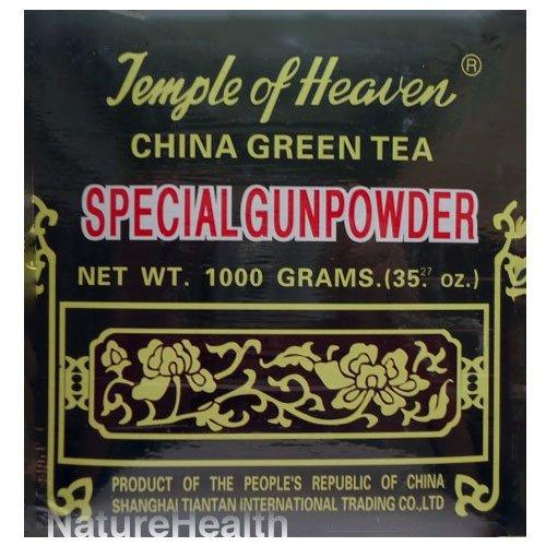 Thé Vert de Chine Gunpowder spécial 1 Kilo (1000g ou 35,27 Oz) Authenticité garantie