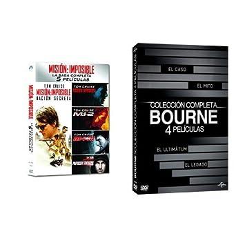 Pack: Misión Imposible 1 a 5 + Bourne 1 a 4 [DVD]: Amazon.es: Cine ...