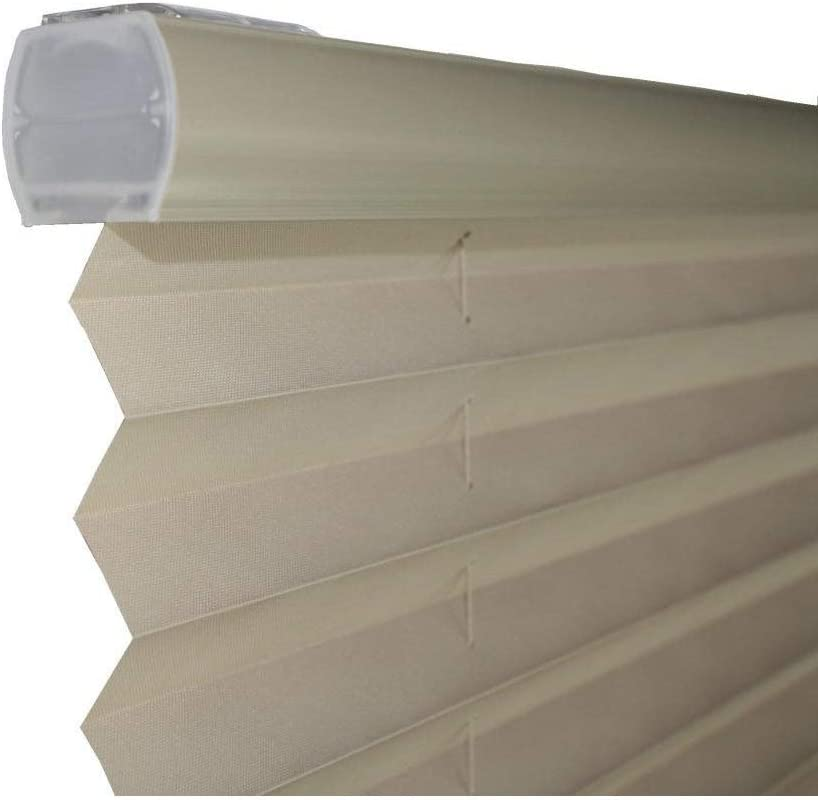 USA Light Filtering Taupe Cordless Pleated Shades 30 x 64 All Strong