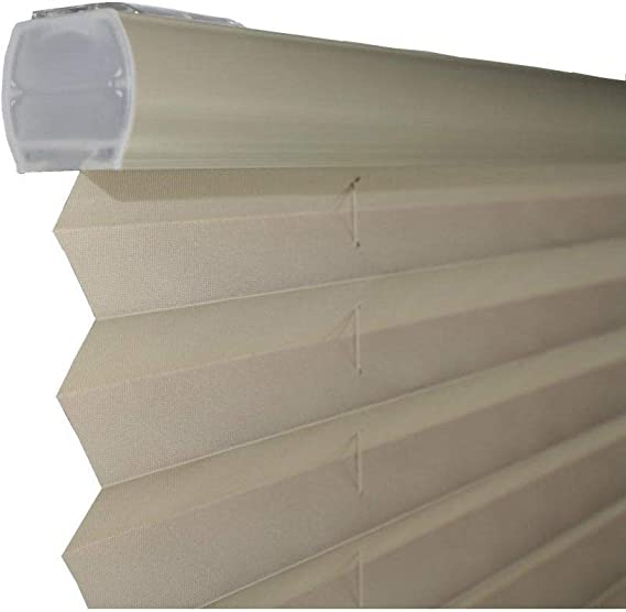 All Strong USA Light Filtering Taupe Cordless Pleated Shades 30 x 64