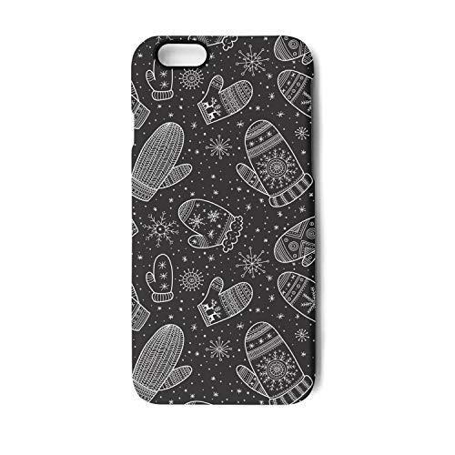 Mittens Address Labels - Yuwerw fgqq Christmas Boho Mittens Cool Unique Waterproof Cell Phone Cases for iPhone 7 Plus/iPhone 8 Plus Protective Phone Cases Mobile Shell Case Cover iPhone Holder