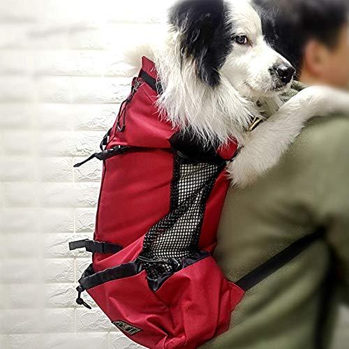 QKEMM Hundetasche Hundetragetasche Katzentragetasche Transporttasche aus Tragbaren Brustschultern Transportbox für Hunde…