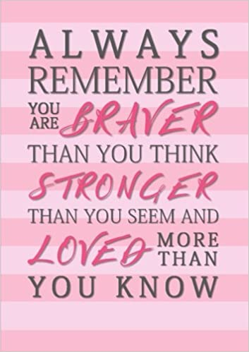 Always Remember You Are Braver Than You Think Stronger Than You Seem