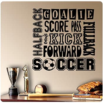 Soccer Sport Sayings Wall Decal Sticker Art Mural Home Décor Quote Part 46