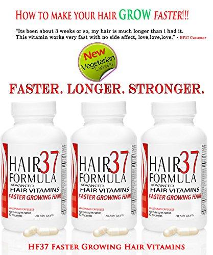 Hair Formula 37 ADVANCED Fast Hair Growth Vitamins - Pill To Grow Hair
