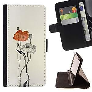Momo Phone Case / Flip Funda de Cuero Case Cover - Watercolor Paper Art - LG OPTIMUS L90