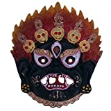 Ratnatraya Tibetan Mahakala Nazar Battu Suraksha Kawach Red Black Face Mask For Evil Protection