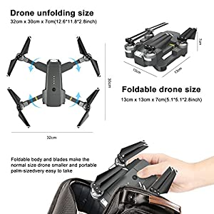 Fansteck Foldable Drone RC Quadcopter kit, Battery, Blades by Fansteck