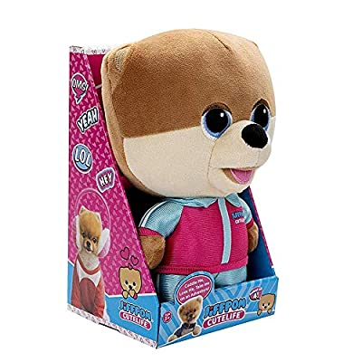 "JiffPom CuteLife Collectable Plush Toy | All Star Edition | Collect All 4 JiffPom CuteLife Plushies | Stuffed Kids Toy | Super Soft | 10"" Tall 