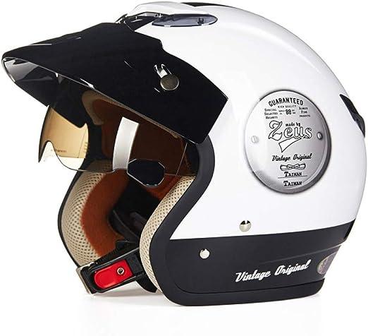 GTYW, Casco De Moto, Casco Retro, Casco De Moto Jet, Visera ...