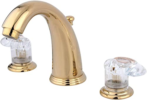 Kingston Brass KB982ALL Magellan 8-Inch Widespread Lavatory Faucet with Retail Pop-Up, Polished Brass