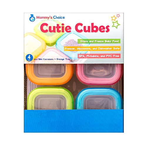 Mommy's Choice Cutie Cubes: Baby Food Storage Container with