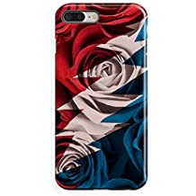 Grateful Dead Roses - iPhone 7 Plus Tough Case - Red White and Blue