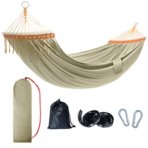 TOURIT Lightweight Portable Hammock Double Camping Hammock with Tree Straps for Outdoors Patio Yard Backpacking Travel Camping Beach (450lbs Capacity) For Sale