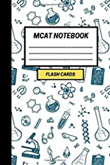 MCAT Notebook: Create your own MCAT flash cards. Includes a Spaced Repetition and Lapse Tracker (480 Cards) Paperback
