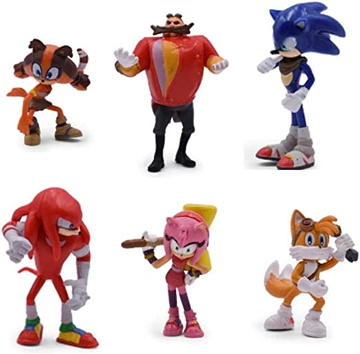 6PCS PVC Sega Sonic Toys The Hedgehog  Aktion Figur Kollektion Kind Spielzeuge