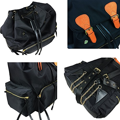 Backpack Nylon Sheli Women Bag Water Resistant Purse Large School Deluxe Black Girls for rUZqXwOU