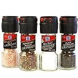 McCormick Salt and Pepper Grinders (Himalayan Pink Salt, Peppercorn Medley, Sea Salt, Black Peppercorn), 4 Count