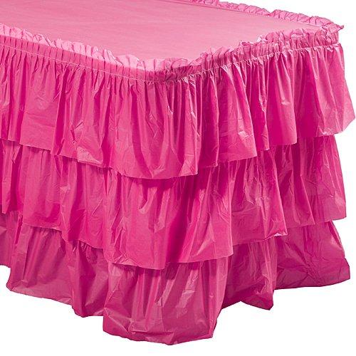 Rosa 3 niveles de volantes falda de mesa: Amazon.es: Hogar