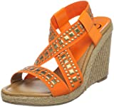 Kelsi Dagger Brooklyn Women's Delana Open-Toe Espadrille,Orange,8 M US